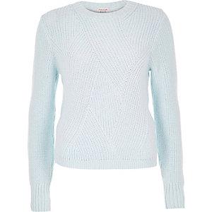 Light blue stitch jumper