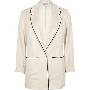 Cream satin jacket