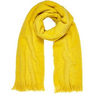 Écharpe ultra douce jaune