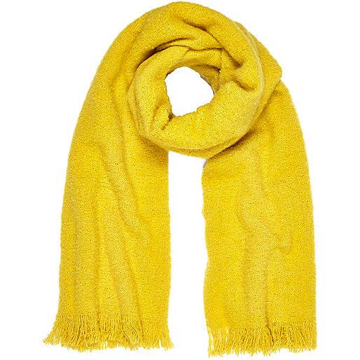 Yellow super soft scarf