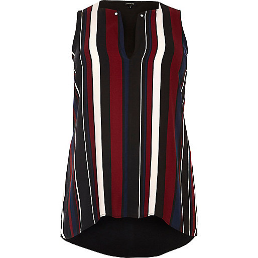 Plus black stripe tank top