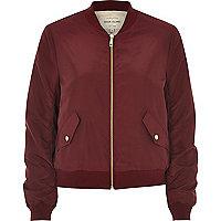 Dark nylon bomber jacket