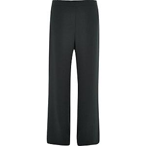 Black soft straight leg trousers