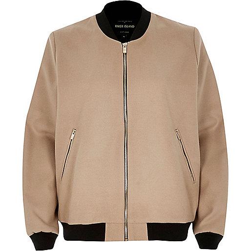 Beige bomber jacket