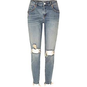 Blue denim Alannah relaxed skinny jeans