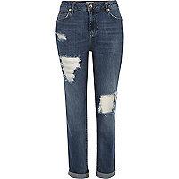 Ashley – Boyfriend-Jeans in mittelblauer Waschung