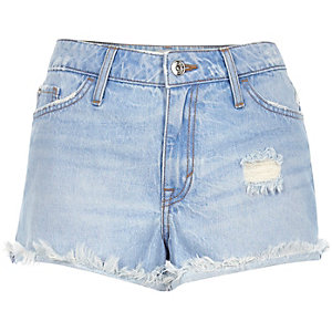 Ruby lichtblauwe denim short