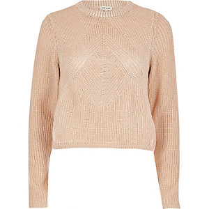 Gold chunky knit sweater
