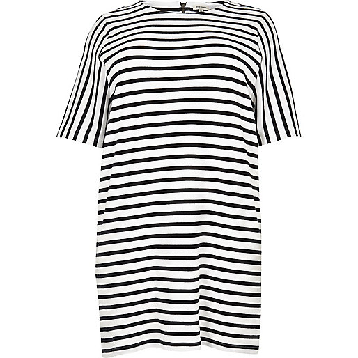 Plus white stripe tunic