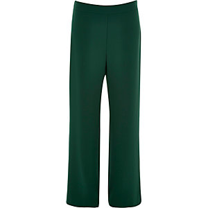 Dark green high rise trousers