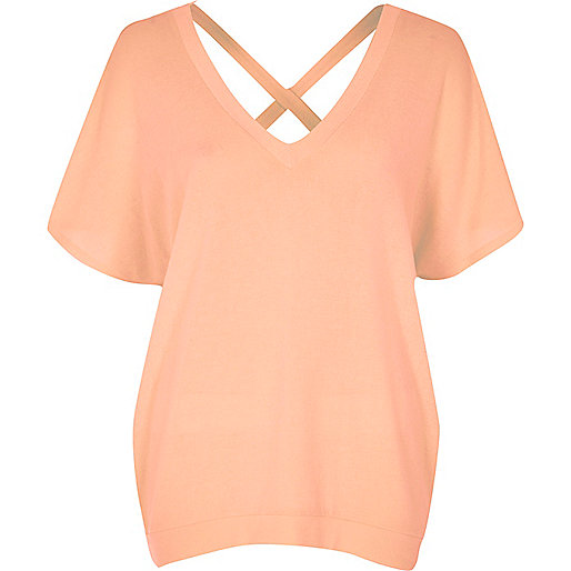Coral cross back Jumper