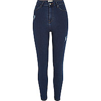 Dark wash Harper high waisted skinny jeans