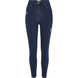 Harper – Skinny Jeans in dunkler Waschung mit hohem Bund