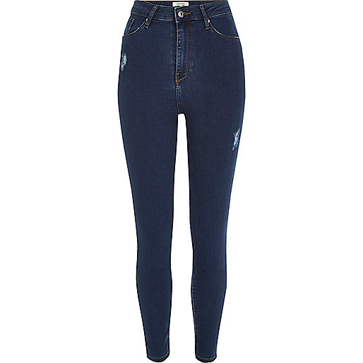 Dark wash Harper high rise skinny jeans