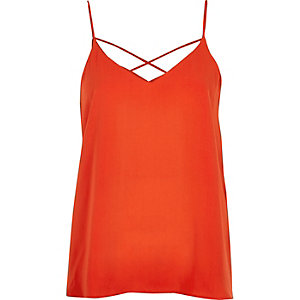 Red strappy cami top