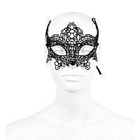 Black lace eye mask