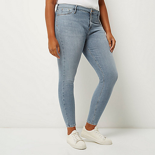 Plus light wash molly jeggings