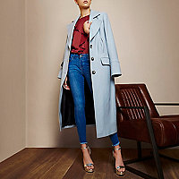 RI Studio light blue duster peacoat