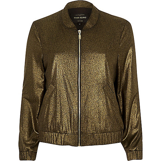 Gold bomber jacket