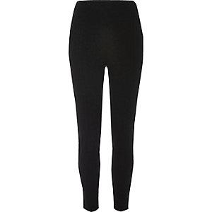 Black ponti piping detail leggings