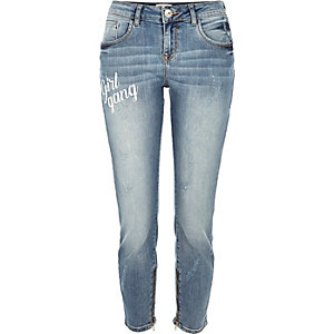 Blue wash Alannah relaxed skinny jeans