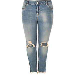 Plus light Alannah relaxed skinny jeans