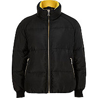 Black high neck puffer jacket