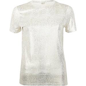 Gold metallic T-shirt