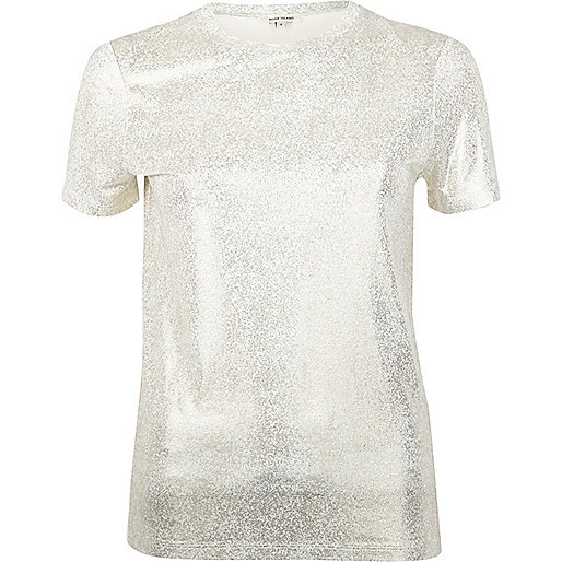 T-Shirt in Gold-Metallic