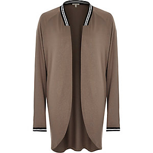 Brown metallic long sleeve cardigan