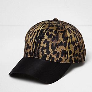 Leopard print NY cap