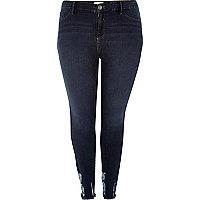 Plus dark wash Amelie super skinny jeans