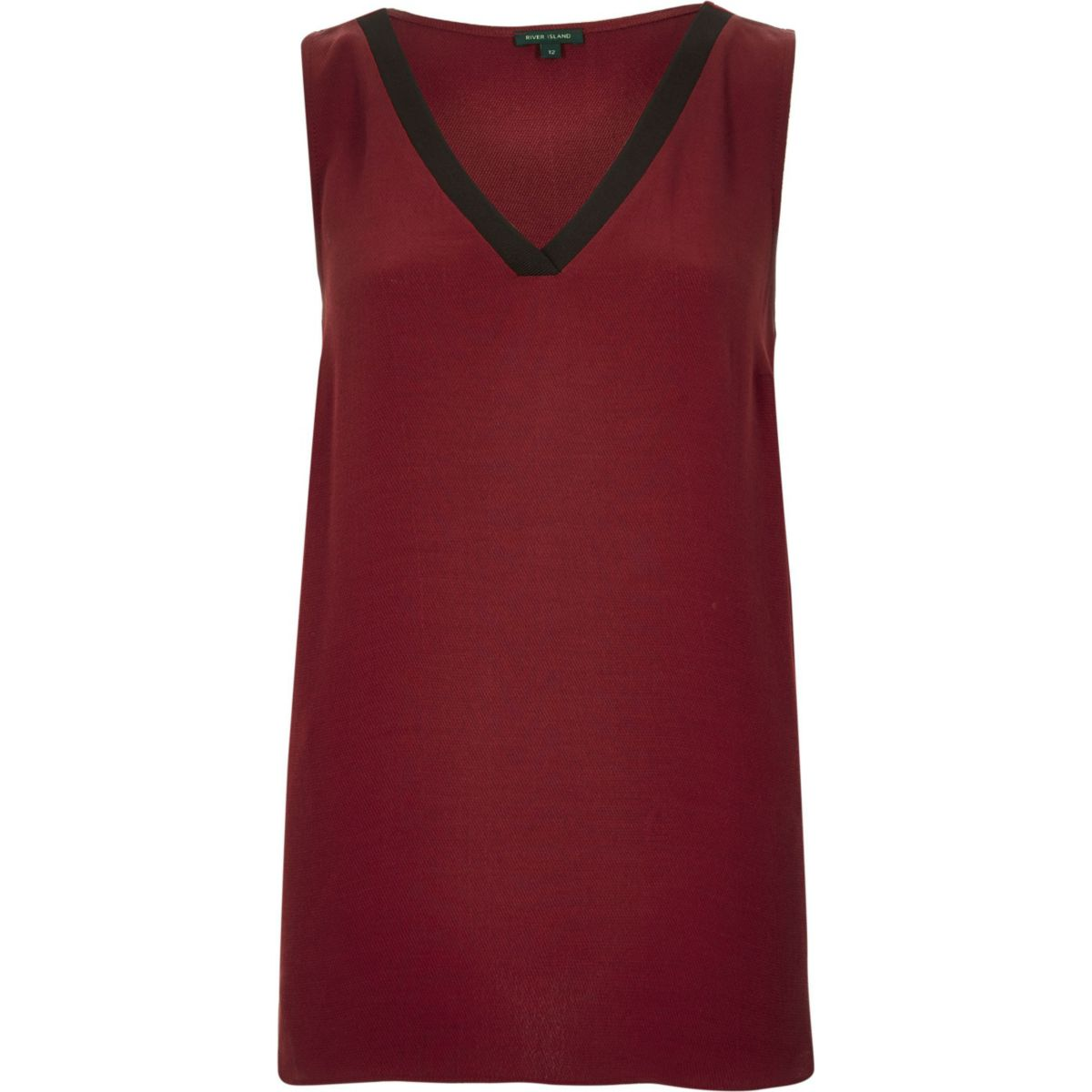 Burgundy V-neck vest