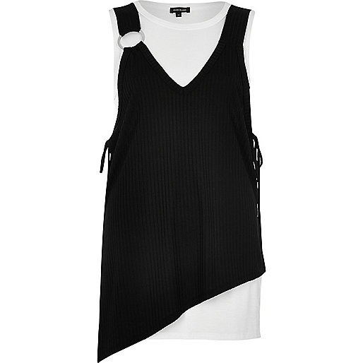 Black and white layered asymmetric top