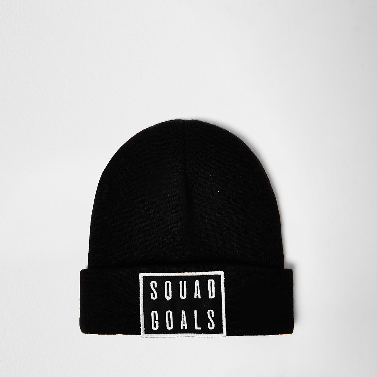 Black knitted squad goals beanie