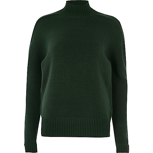 Dark green turtleneck sweater