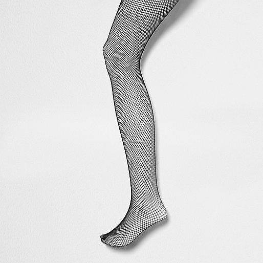 Black fine fishnet tights