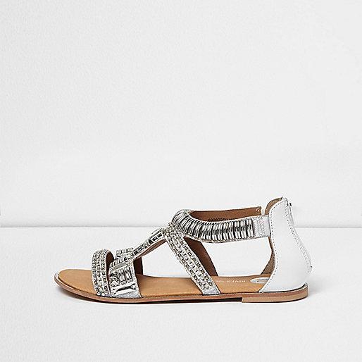 Silver embellished sandal
