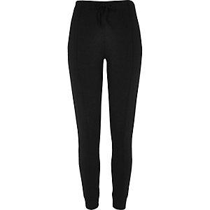 Black bound ponte leggings