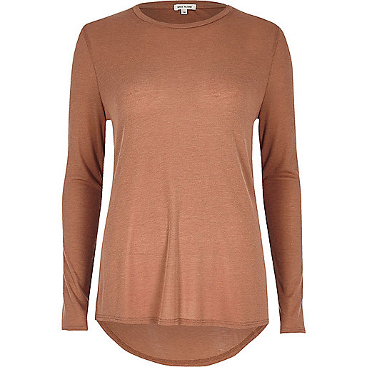 Light brown basic top
