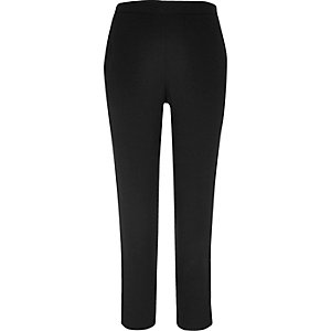Black side stripe woven trousers