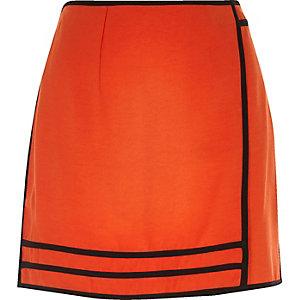 Red sporty mini skirt
