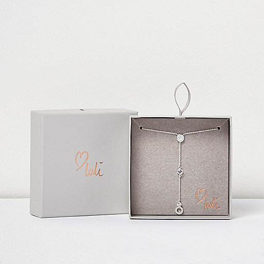 Love Luli silver-plated drop necklace