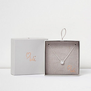 Love Luli verzilverde diamanté ketting