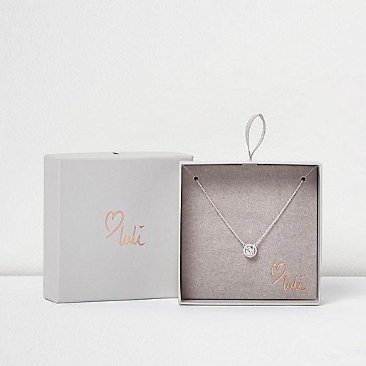 Love Luli silver-plated diamanté necklace