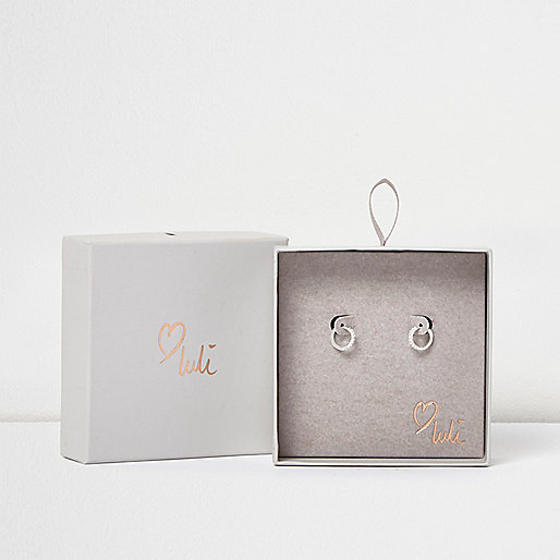 Love Luli silver-plated hoop earrings