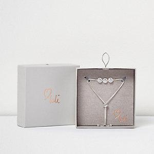 Love Luli silver-plated diamanté Y bracelet