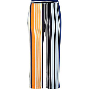 RI Plus blue stripe palazzo pants