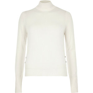 Cream knit turtleneck jumper