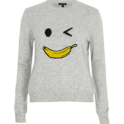 Grey knit banana man sweater